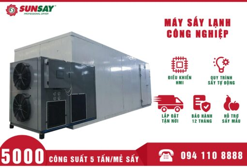 Máy sấy lạnh công nghiệp 5 Tấn SUNSAY