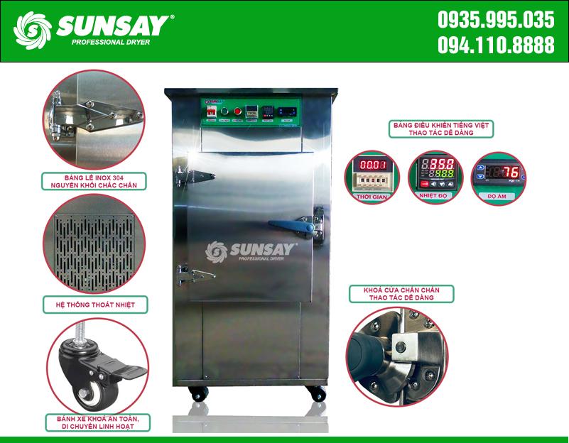 Máy sấy lạnh SUNSAY chế biến dứa sấy lạnh